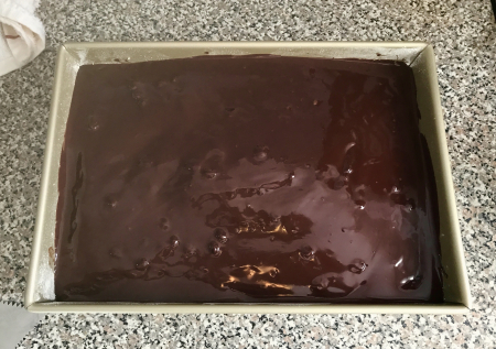 KAF Moist Cake with Ganache