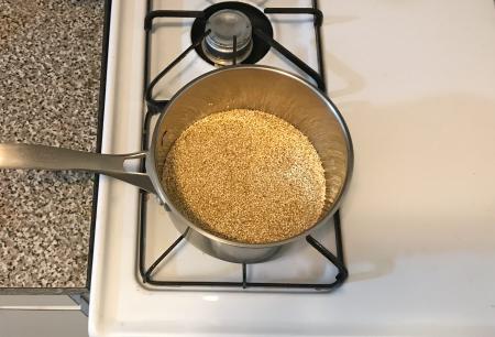 Herbed Quinoa - Toasting Quinoa