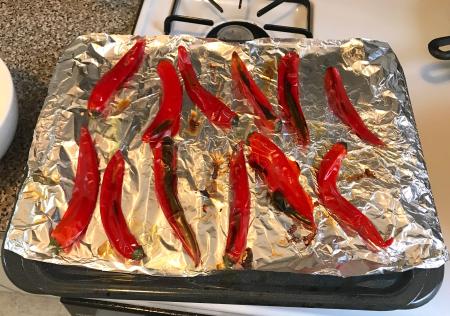 Greek Red Pepper Feta Dip - Roasted Peppers