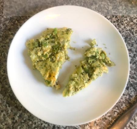 Broccoli Frittata - Cut for Serving