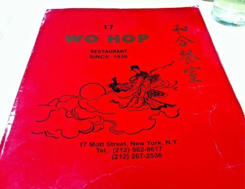 Wo Hop Menu