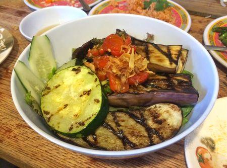 Bun-ker Grilled Eggplant and Zucchini