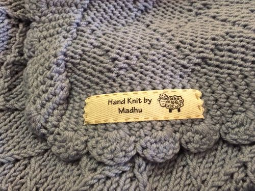 Falan Blanket Label Close Up