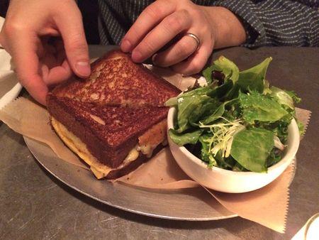 Queens Kickshaw Gruyere Grilled Cheese Whole