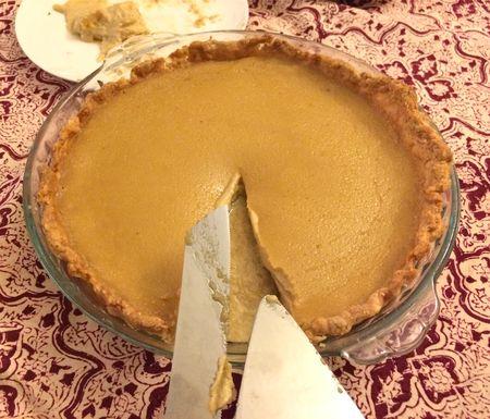 Maple Buttermilk Pie Baked 2