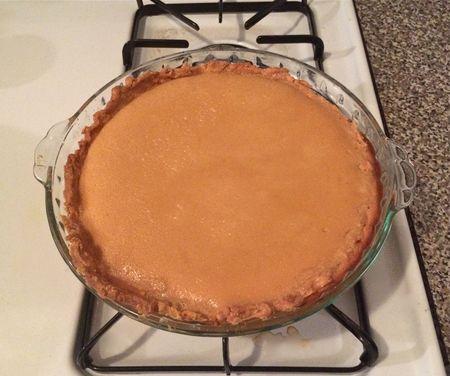 Maple Buttermilk Pie 1 Baked