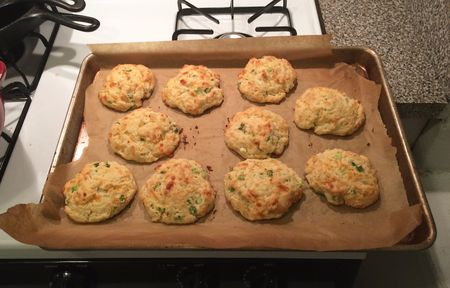 Cheddar Scallion Biscuits Baked