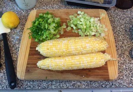 Corn Pasta - Fresh Corn and Scallions