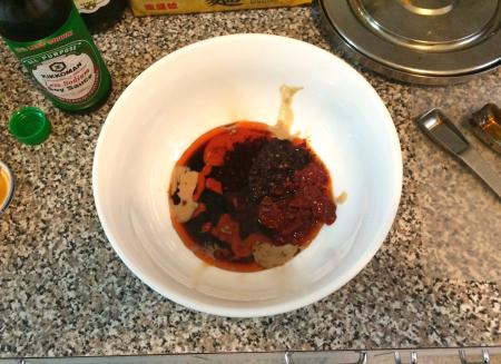Dan Dan Noodles - Initial Sauce Ingredients
