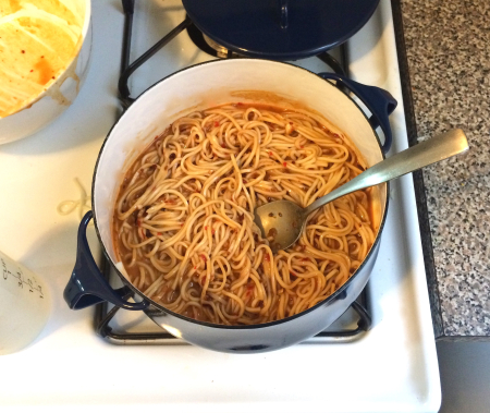 Dan Dan Noodles - Mixed in Bowl