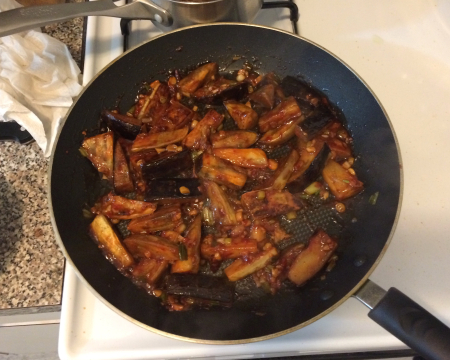 Sichuan Eggplant - Final in Pan