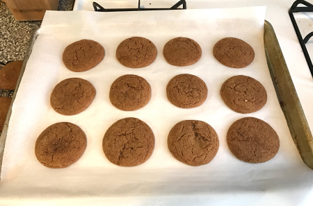 Cooks Illustrated Molasses Cookies - Baked on Pan
