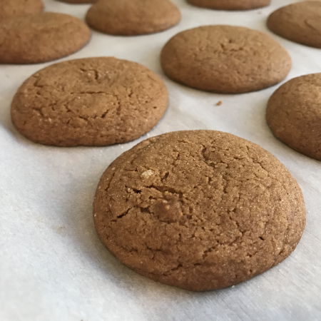 Cooks Illustrated Molasses Cookies - Close Up