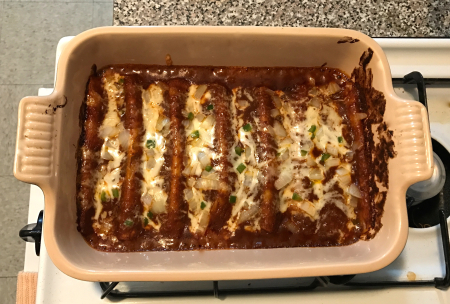 Gravy Enchiladas - Baked and Completed