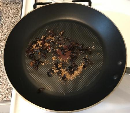 Gravy Enchiladas - Dry Roasting Spices