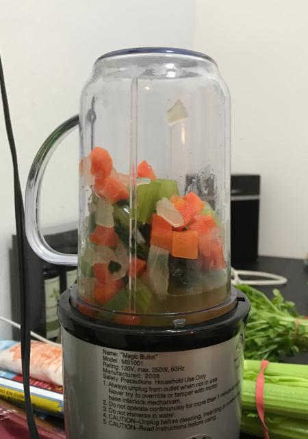 Rick Bayless Green Rice - Veggies to be Pureed
