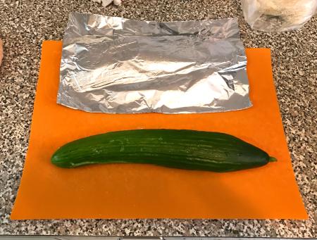 Smashed Cucumbers - Initial Smashing