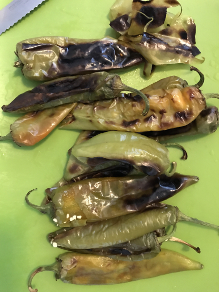 Hatch Green Chile - post steaming