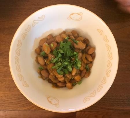 Drunken Beans - Served