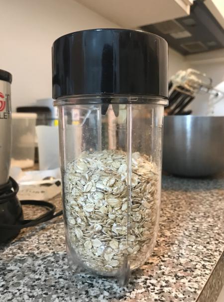 KAF chip cookies - oatmeal pre-grinding