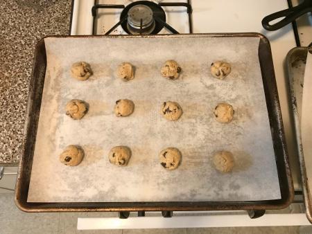KAF chip cookies - formed balls