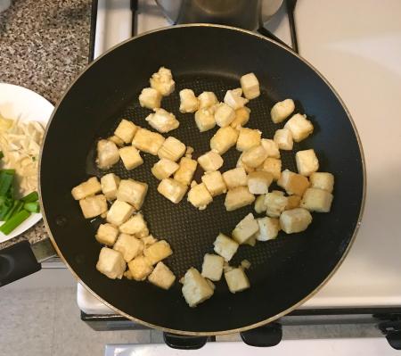 Three Cup Tofu v2 - Fried Tofu