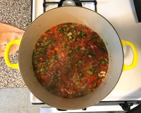 Vegan Gumbo - Final Cooking