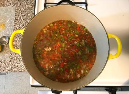 Vegan Gumbo - Vegetables Cooking