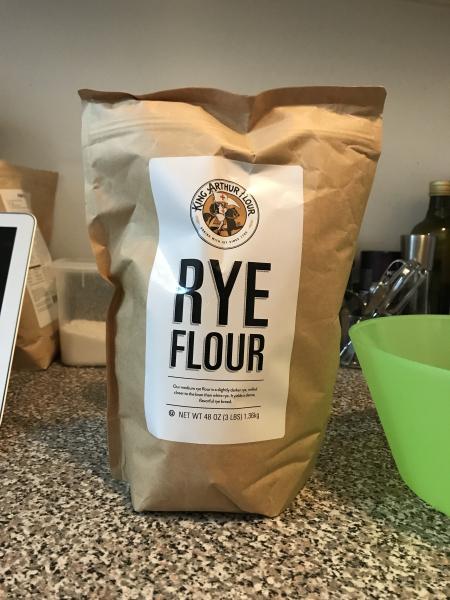No Knead Rye Bread - Rye Flour Bag