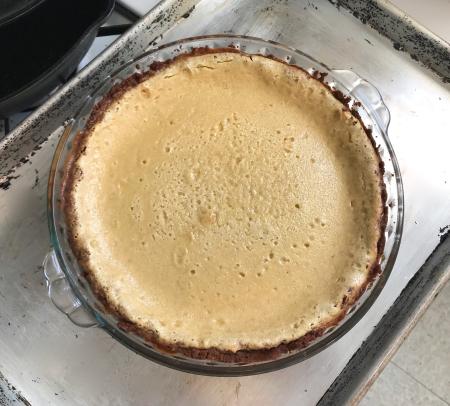 Egg N Grogg Pie - Cooled