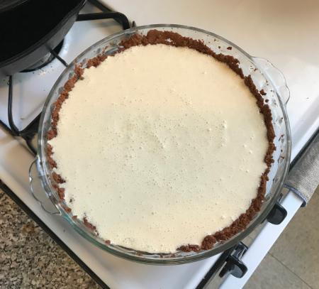 Egg N Grogg Pie - Pre-Baking