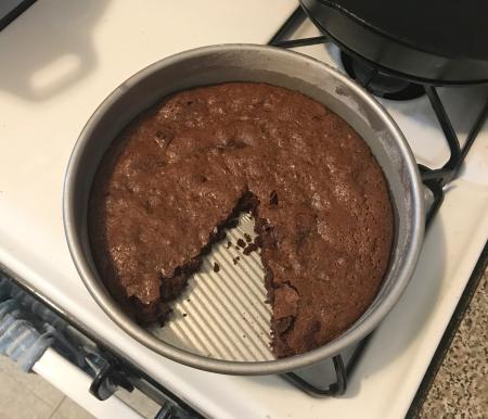 Katharine Hepburn Brownies - Sliced in Pan