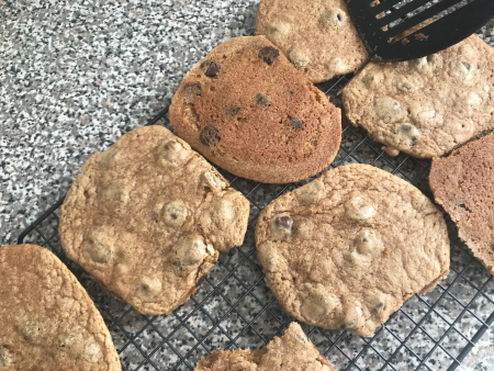 Milk St Rye Chocolate Chip Cookies - Baked Close Up