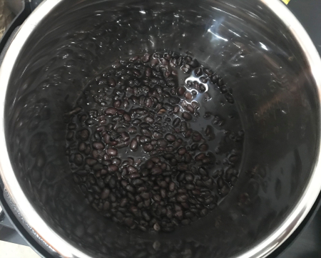 Instant Pot Black Beans - Cooked in Pot