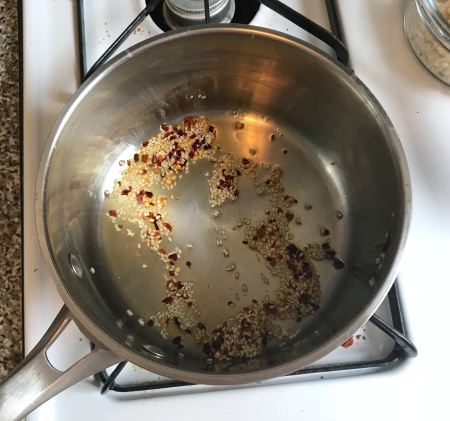 Milk St Noodles - Cooking the Spices