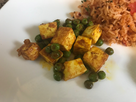 INDIA Mutter Paneer - Served