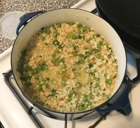 Pearl Barley Risotto - Cooked