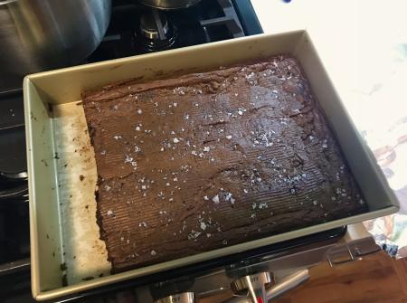Rye Brownies - Baked