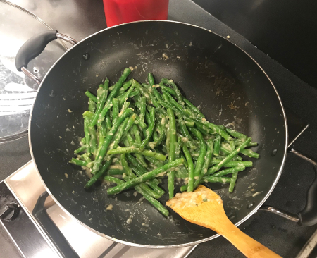 Lemony Green Beans - in Saute Pan v2