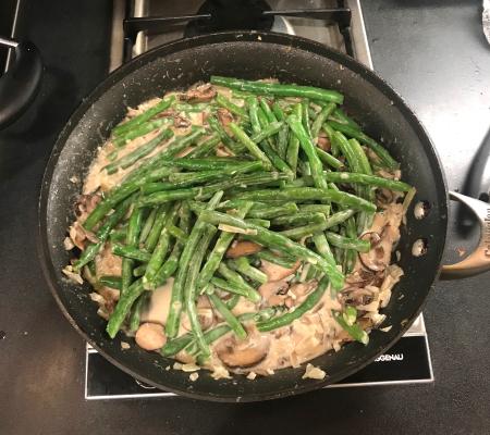 Green Bean Casserole - Served