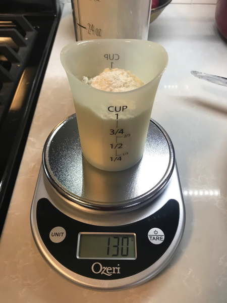 Chocolate Orange Tart - Measuring Flour