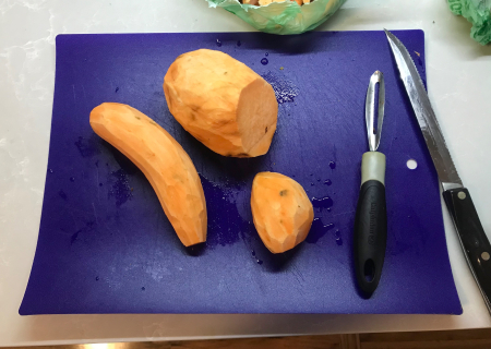 Sweet Potato Fries - Sweet Potatoes Peeled