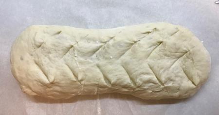 Poolish Batard - Final Dough Shaped and Scoured