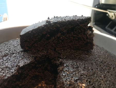 KAF Chocolate Cake - Baked Slice Close Up