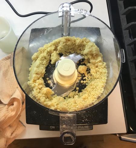 Chocolate Orange Tart - Pie Crust together in Food Processor