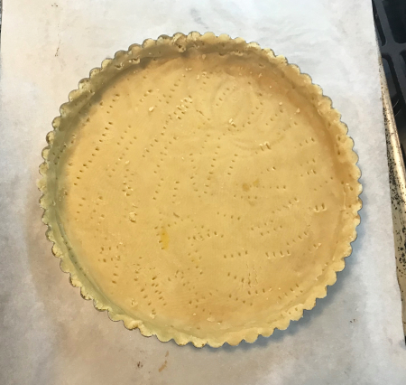 Chocolate Orange Tart - Dough Pressed in Tart