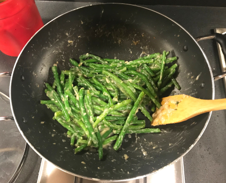Lemony Green Beans - in Wok
