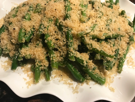 Lemony Green Beans - Served Close Up