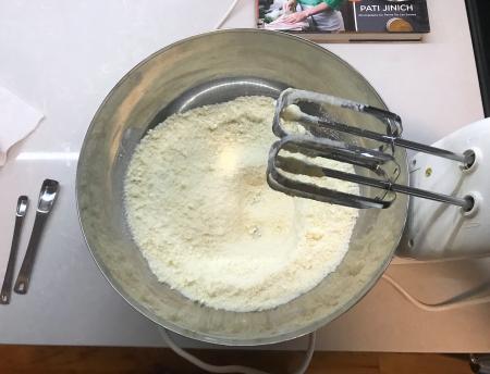 KAF Almond Cake - Soft Butter and Flour Mixed