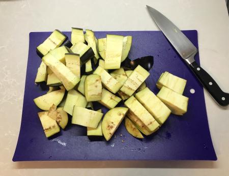 Steamed Sichuan Eggplant - Cut Eggplant